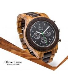 Orologio da Polso Crono Sport in legno di olivo e noce cosenza