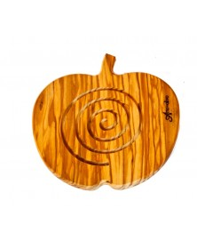 Sottopentola in legno di olivo mela