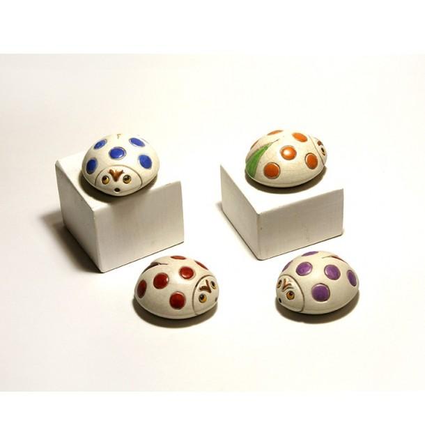 Coccinella in ceramica craquelè