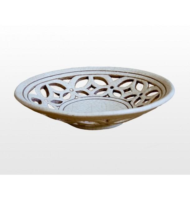 Ciotola intagliata in ceramica craquelè