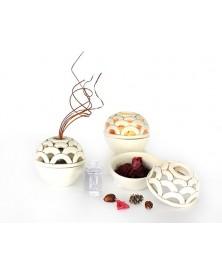 Contenitore multiuso ceramica craquelè