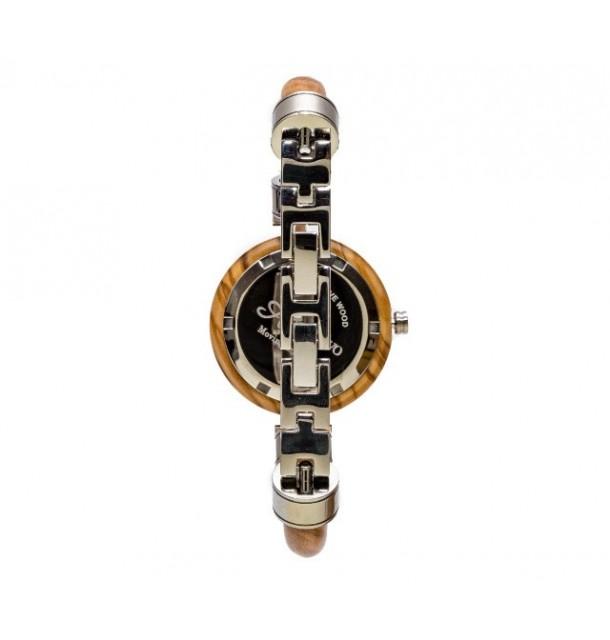 Orologio Donna a bracciale in legno di olivo 100% italiano