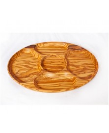 Antipastiera in legno di olivo