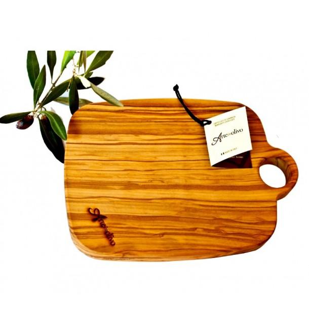 Tagliere con foro in legno di olivo