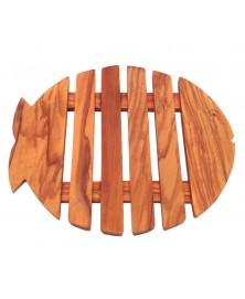 Sottopentola in legno di olivo pesce